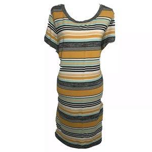 🎭 Ava & Viv shirt dress striped 2X